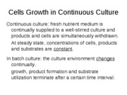 lecture notes-growth kinetics--growth in continous culture