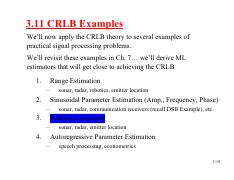 EECE 522 Notes_08 Ch_3 CRLB Examples in Book