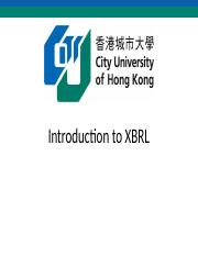 Lecture 13 - XBRL