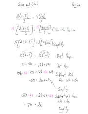 Solve And Check Examples Class Note For MPM 1D0