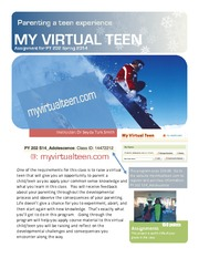 MyVirtualTeen assignment for PY 202