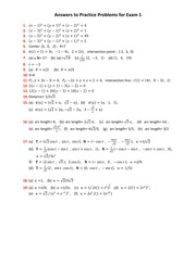 Practice Problems Answers -Exam 1 -Math 2215 -Spring 2011