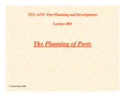 Lecture03-Planning-of-Ports