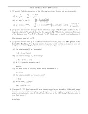 Final Exam Solution Winter 2009 on Calculus 1