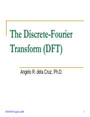 Lecture 6 - The Discrete-Fourier Transform.pdf