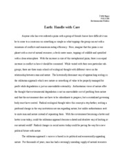 Earth Handle With Care (Final Copy)