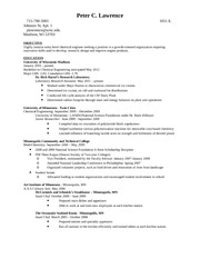 Lawrence Resume Chemical