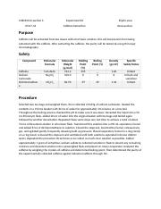Lab Report for Caffeine Extraction