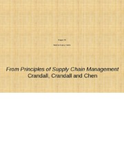 Chapter 10 Reverse Supply Chains PSCM2E