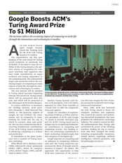 Google Boosts ACM Turing Award to $1M