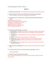 Psych 100 Study Guide