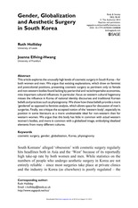 Ruth Holliday and Joann Elfving-Hwang - Gender, Globalization, and Aesthetic Surgery in SK