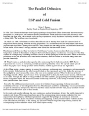 ESP and Cold Fusion