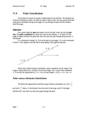 Calculus Notes 11.3
