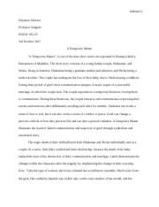 a temporary matter essay