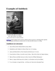 Examples of Antithesis.docx