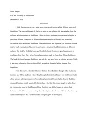 Zen Buddhism Reflection Paper