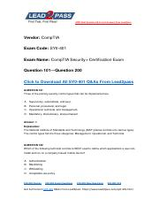 Updated Lead2pass CompTIA SY0-401 Braindump Free Download (101-200).pdf