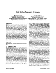 Web Mining Research a Survey