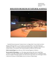 HOUSTON MUSEUM OF NATURAL   SCIENCE.docx