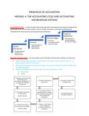 Accounting Module 4 The Accounting Cycle and Accounting Information Systems.docx