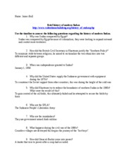 History of Sudan worksheet