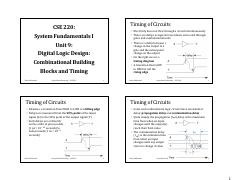CSE220 Unit09 Digital Logic Design - Combinational Building Blocks and Timing.pdf