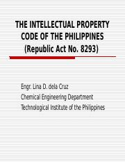 RA 8293 THE INTELLECTUAL PROPERTY CODE OF THE PHILIPPINES   (.ppt