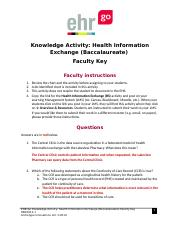 Health Information Exchange _Baccalaureate_ HBK1012.1 KEY.docx