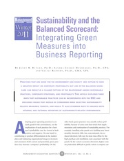 sustainability and the bsc