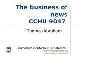 Lecture 10 (20150415) - The Business of news