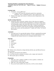 ENG 313 Lesson Plan #2 Compare & Contrast Fall 2013