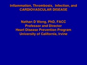 Inflammation Infection and CHD 051106
