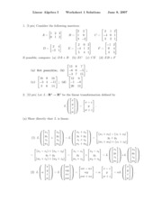 worksheet solution 1