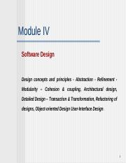 Design Concepts 1 Ppt Software Engineering Design Concepts And Principles Objectives 1 Outline The Concepts And Principles Underpinning Design Course Hero