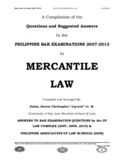 Mercantile Law (2007-2013)
