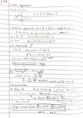 Lecture - Linear Approximation