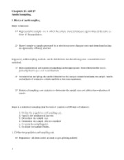 auditing- Chapter 15 & 17 outline