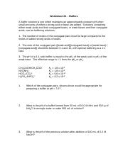 Worksheet 24-Buffers