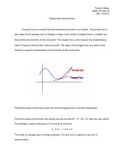 Tangent and Secant Lines Final Pdf