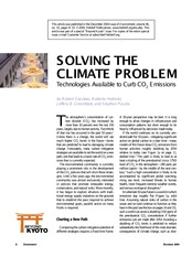 Solving the climateproblem