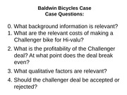 Baldwin Bicycles - solution