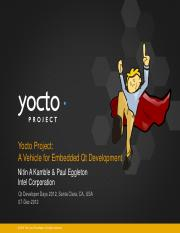 Yocto Project, A Vehicle for Embedded Qt development pdf - Yocto