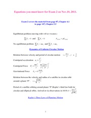 Exam_2._Equations_must_be_known_Fall_2011.