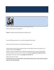 Cell Immune System Worksheet Howard Hughes Medical Institute 2007