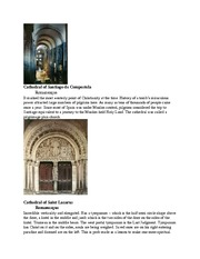 Romanesque Art and Architecture notecards quiz 8