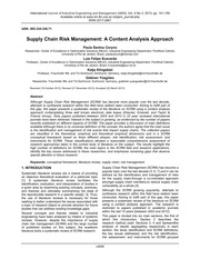 SCRM Risk Management A content Analysis Approach