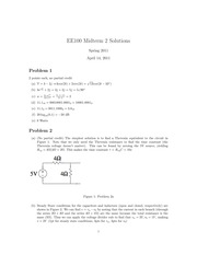 EE 42 - Spring 2011 - Poolla - Midterm 2 (solution)