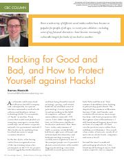 hacking for good and bad