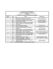 Engr 105 Course Outline and Assignments Fall 2013 (1)